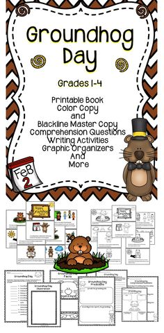 Groundhog Day Activities For The Classroom - This Groundhog Day activity pack includes a make a take book, graphic organizers, and more! #reading #education