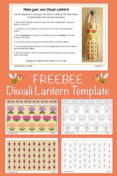 Download this FREE Diwali Lantern Template to use as part of your activities to learn about and celebrate this important Hindu festival. Included is a colour template, a black and white template to colour, and a blank template for children to create their own design on. Diwali Lantern, Art Doodle, Hindu Festivals, Free Teaching Resources, Religious Education, Eyfs, Diversity, Beautiful Images, Schools