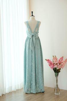 c045ce49916f Sage green lace floor length party long cocktail bridesmaid dresses -  KEERATIKA VALENTINA