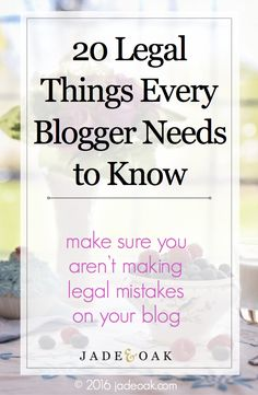 Make sure you're informed and aren't making potentially illegal mistakes on your blog. Learn the legal blogging basics from a licensed attorney and blogger!