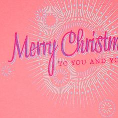 Love Samantha & Owen's hand-printed cards, plus pink is woefully underused at Christmas.
