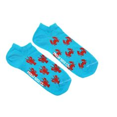 Crabs and Lobster Ankle Socks | Mismatched by Design | Friday Sock Co.  High-quality, ethically made, super cool.   Click the link for even more designs!
