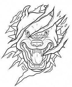 how to draw a pitbull tattoo step 9 Tattoo Design Drawings, Cool Art Drawings, Art Drawings Sketches, Tattoo Sketches, Easy Drawings, Animal Drawings, Tattoo Outline Drawing, Pitbull Tattoo, Pitbull Drawing