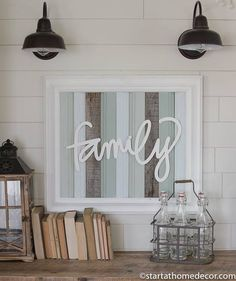 Large FINISHED Reclaimed Wood Turquoise Family Sign  #Family #finished #Large #Reclaimed #Sign #turquoise #Wood