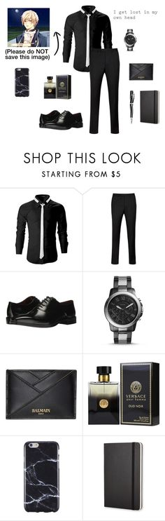 """Mentoring~Louis Howard--The Elegant and The Wistful... A Soap Opera"" by gravityfallsgirl33 ❤ liked on Polyvore featuring Ted Baker, Massimo Matteo, FOSSIL, Balmain, PENHALIGON'S, FingerPrint Jewellry, Moleskine, Visconti, men's fashion and menswear"