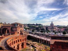 9 #spots to #admire #Rome\'s #beauty. This #view is spectacular. You get it from #mercati di #traiano