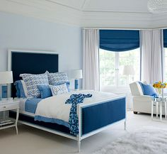 The Relationship Between Interior Design, Color and Mood; There's a reason why blue is such a popular color for interiors. It calms and soothes, ushering in a sense of tranquility. Blue evokes the color of the sea and the sky, and darker shades such as navy can create a relaxing nautical vibe.