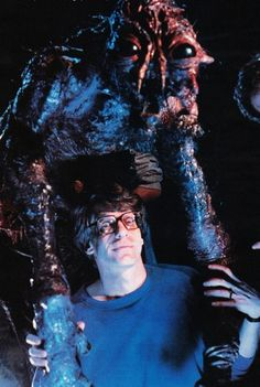 David Cronenberg on the set of 'The Fly' (1986)