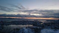 Amazing Lofoten. View over Svolvær, Lofoten.
