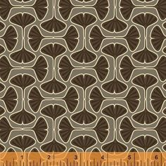Timber by Jessica Levitt - Ginko in Brown #pattern #repeat