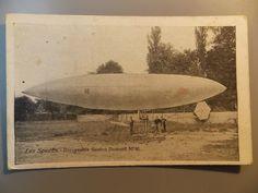 RARE Postcard SANTOS DUMONT (BRAZIL): Close view of S.Dumont N16-Early aviation