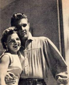 Elvis and fan in september 1956 on the movie set.