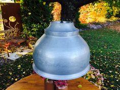 Vintage Deckenlampen - Vintage Lampe Milchtrichter gross - ein Designerstück von schaebigundchic bei DaWanda