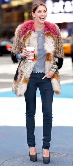 A fur coat, maybe not in this color...