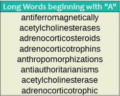 8 Best Words Starting images | Words, Word list, Longest word