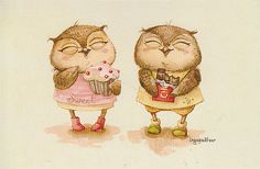 owl_by Inga Paltser Whimsical Owl, Paper Owls, Owl Pictures, Owl Always Love You, Beautiful Owl, Wise Owl, Owl Bird, Illustrations, Cute Illustration