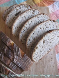 You can do it... at home!: Pain au Levain with wheat germ - shaped into 3Bs, boule, batard and baguette