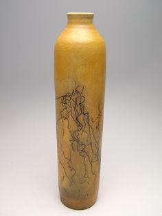 Raku pottery raku horsehair pottery vase ceramic raku ceramic horse hair raku vase pottery raku