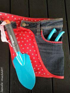 Jeans-Upcycling, Recycling, Jeans, Gürteltasche, Gartenwerkzeug, Tasche für Gartenwerkzeug, selber nähen, DIY, Tutorial, selber machen, Gart...