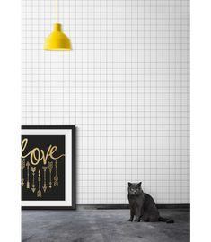 'Contact Grid 55' is perfect if you want to have a feature wall without intense patterns or colours. https://au.miltonandking.com/contact-grid-55