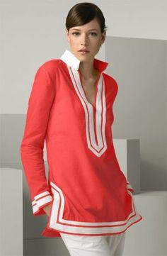 Where to buy Tory Burch online -  Tory Burch coral tunic top.jpg