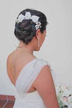 wedding hair // El Cortez Hotel Wedding in San Diego