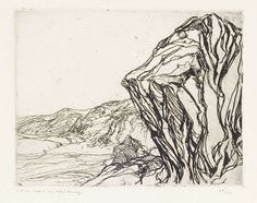 """Near Narrow Cove,"" Charles Herbert Woodbury, etching,  6 3/4 x 8 3/4"", private collection."