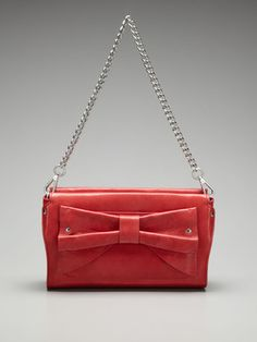 Nanette Lepore Solid Bow Convertible Clutch