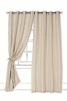 Linen Ladder Curtain #anthropologie