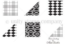 Ann Butler Designs Stamp Line ANN-1030A-DIAMONDS&-PLAID-small