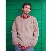 Tip Top Sweater crocheted sideways to create vertical ridges
