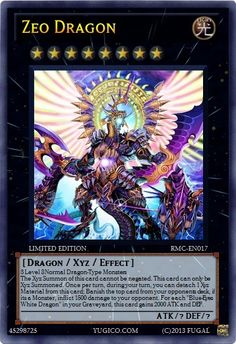 YugiCo.com Price Guide | Yu-Gi-Oh! Cards | Fugal Created Cards Randomly Made Card's RMC-EN017 Zeo Dragon custom-made YuGiOh card
