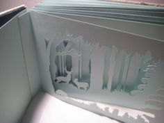 hand cut artist's book #paper
