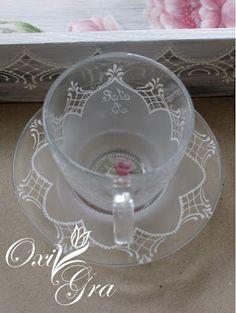 #OxiGra #ręcznie #malowane #filiżanki #prezent #ślub #Hand-painted #cups #wedding #gift