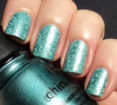 Essence Kings Of Mints with China Glaze Adore and BM plate 205.