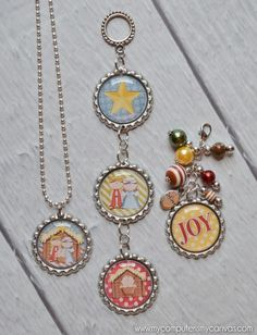 """Oh boy... I've got a new addition and it's getting out of control!!     BOTTLE CAP CRAFTS!!!     These little 1"""" circles of deli..."""