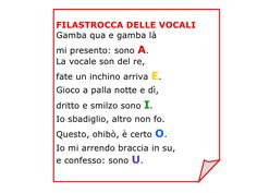 filastrocca vocali - Cerca con Google