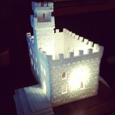 A castle made entirely of sugar cubes. Home sweet home. :)