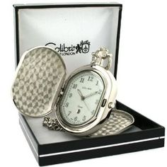 Colibri Pocket Watch Hunting Case with Chain Model #PWQ092008C (Watch)