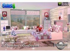 Pralina Teen Bedroom by jomsims at TSR via Sims 4 Updates