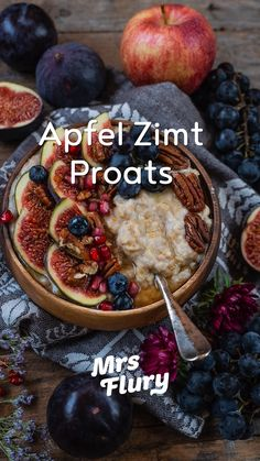 apfel-zimt-protein-oats-apfel-zimt-protein-oats-rezept-mrs-flury-gesunde/ - The world's most private search engine Porridge Recipes, Oats Recipes, Smoothie Recipes, Protein Smoothies, Protein Recipes, Healthy Meals For One, Healthy Breakfast Recipes, Healthy Eating, Dinner Healthy