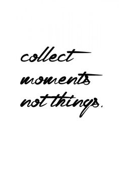 Collect moments not things | Poster | artboxONE