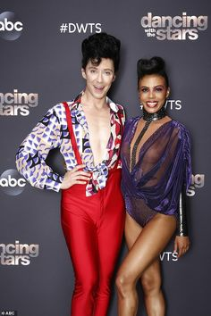Contemporary dance:Olympic figure skater Johnny Weir, 36, and pro partner Britt Stewart topped the leaderboard with 29 points after they performed the first contemporary dance of the season to Total Eclipse Of The Heart by Bonnie Tyler