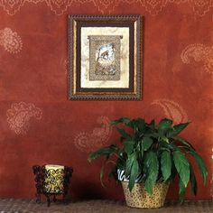 Paisley wall stencils are a great way to add a bohemian vibe to walls!
