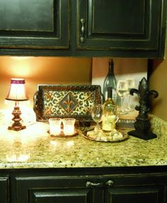 Southern Charm -- Black cabinets