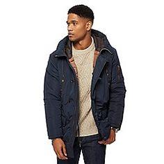 John Rocha - Big and tall navy hooded parka Hooded Parka, Debenhams, Hoods, Dan, Winter Jackets, Shopping, Clothes, Fashion, Winter Coats