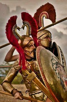 Αρχαίοι Ελληνες οπλίτες Σπάρτη Ελληνικός Στρατός