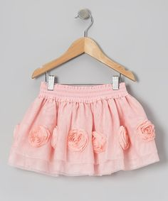 Take a look at this Peach Rose Skirt - Infant, Toddler & Girls on zulily today!