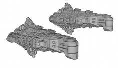 #frigates for #vanguardminiatures #ship #bfg #battlefleetgothic #spaceship #sketchup #3dmodelling #3dprinting