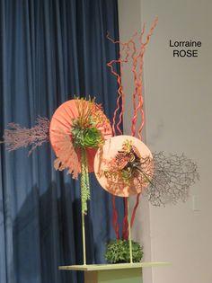 Creative Flower Arrangements, Floral Arrangements, Fabric Yarn, Arte Floral, Flower Show, Ikebana, Air Plants, Plant Decor, Creative Design